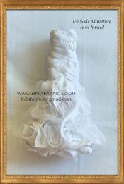 Frame of Wedding Dress Keepsake in Miniature Doll size 1/6 Scale 1:12 Scale Barbie Version By BELAFABRICA