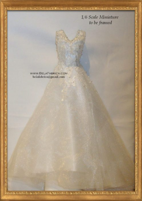 Frame Your Wedding Dress In Miniature By Belafabrica 1/6Scale barbie Doll scale fashion doll scale