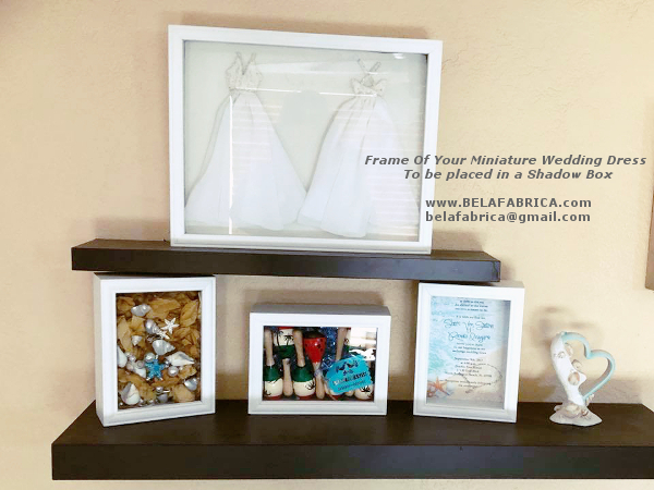 Unique Best Friend Wedding Gift Frame Of Wedding Dress For Shadow Box 1by6 Scale Miniature