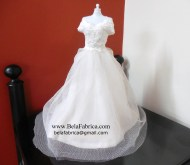 Miniature replica of BHLDN Beau Gown by Watters 37057213 on White mannequin