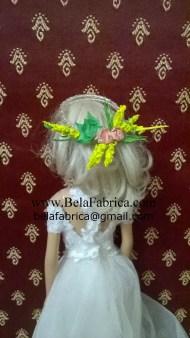 Gilt Wire Wreath Miniature Replica