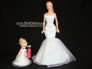 Miniature replica Flower Girl Dress For Barbie