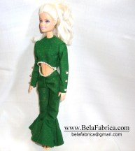 Selena Quintanilla Perez Green dress Miniature Replica