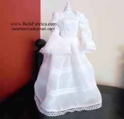 Vintage Mexican Wedding Dress Miniature Replica