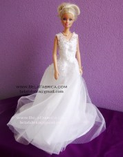 Miniature Replica Glamour Plus Lamour Wedding Dress BY BELAFABRICA