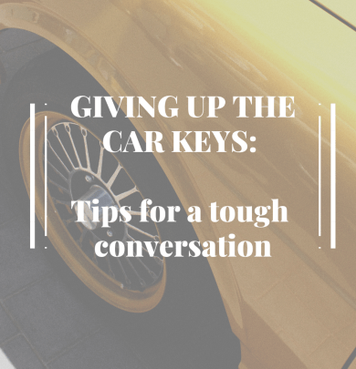 Car, Giving Up the Car Keys: Tips for a tough conversation, Stop Driving