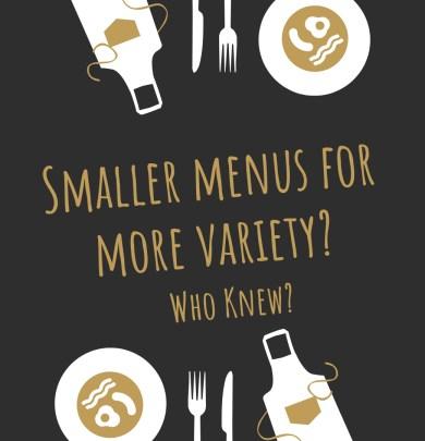 food, smaller menu, senior living, kitchen