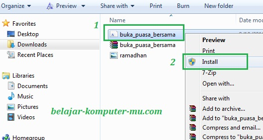 cara install font pada windows 7 seven