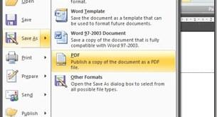 cara mengconvert file Word to PDF dengan microsoft word 2007