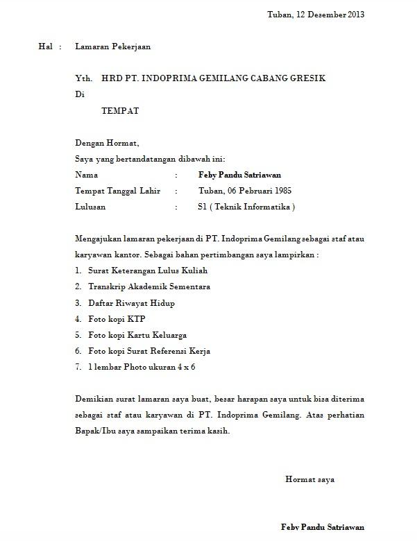 Contoh Surat Lamaran Kerja Sederhana : contoh, surat, lamaran, kerja, sederhana, Contoh, Surat, Lamaran, Kerja