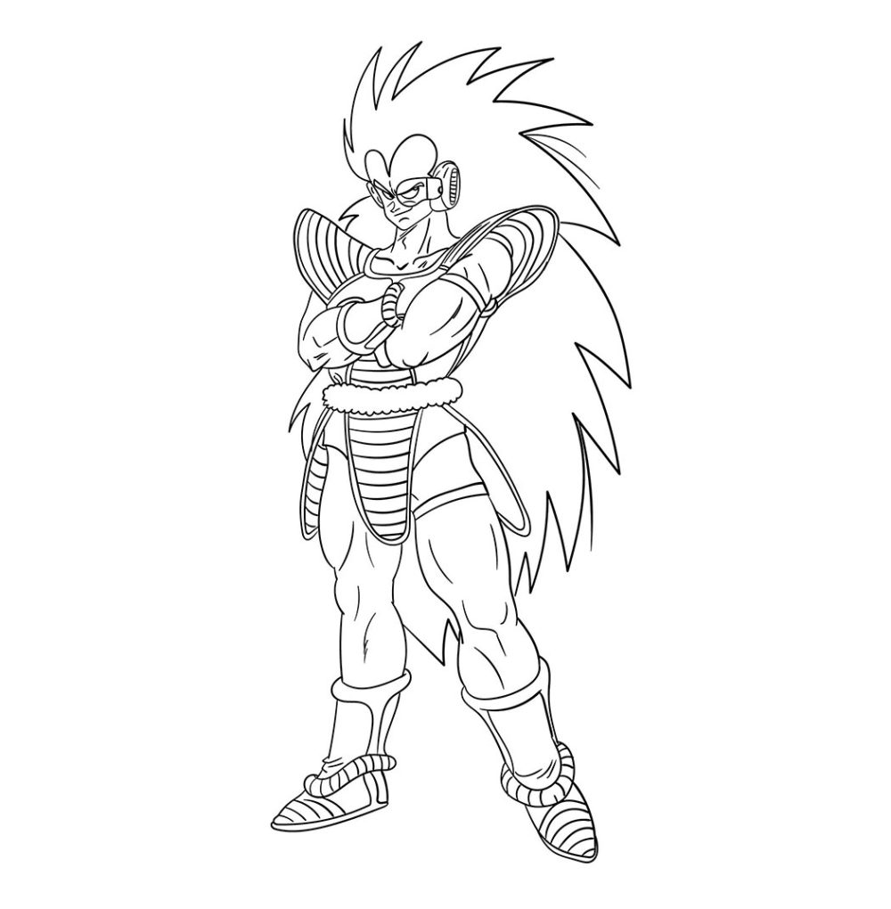 Gambar Mewarnai The Raditz Dragon Ball Z