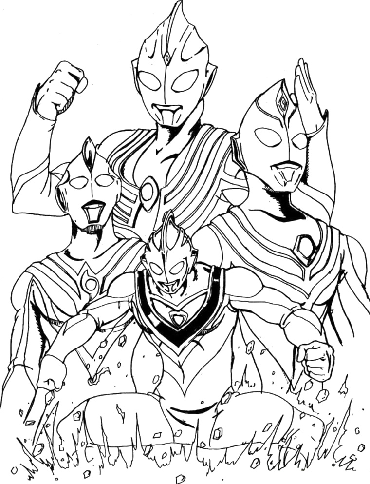 Gambar Mewarnai Ultraman Galaxy Battle