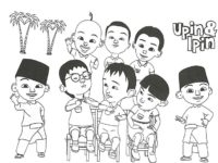 Gambar Mewarnai Upin Ipin And Friends