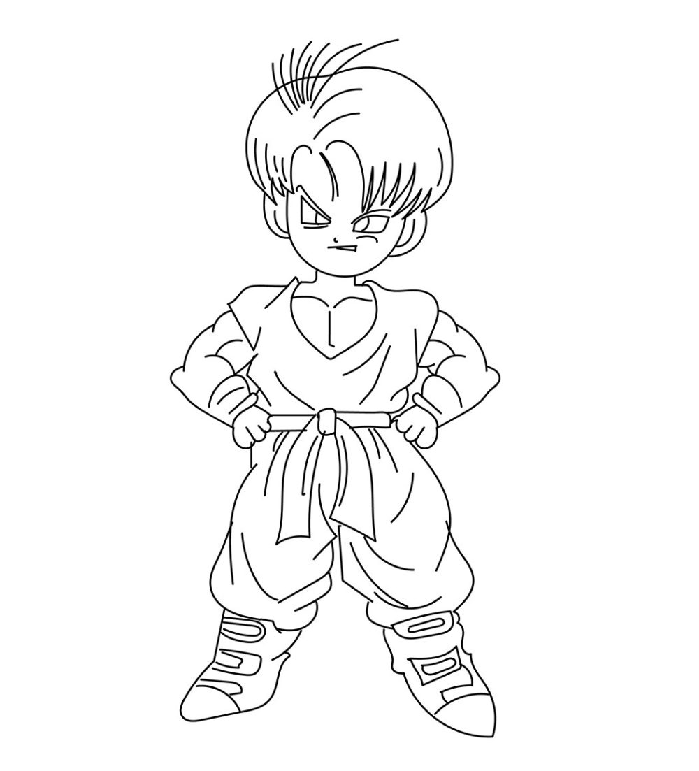 Mewarnai Dragon Ball Z Baby Trunks