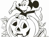 Mewarnai Mickey Mouse Hallowen