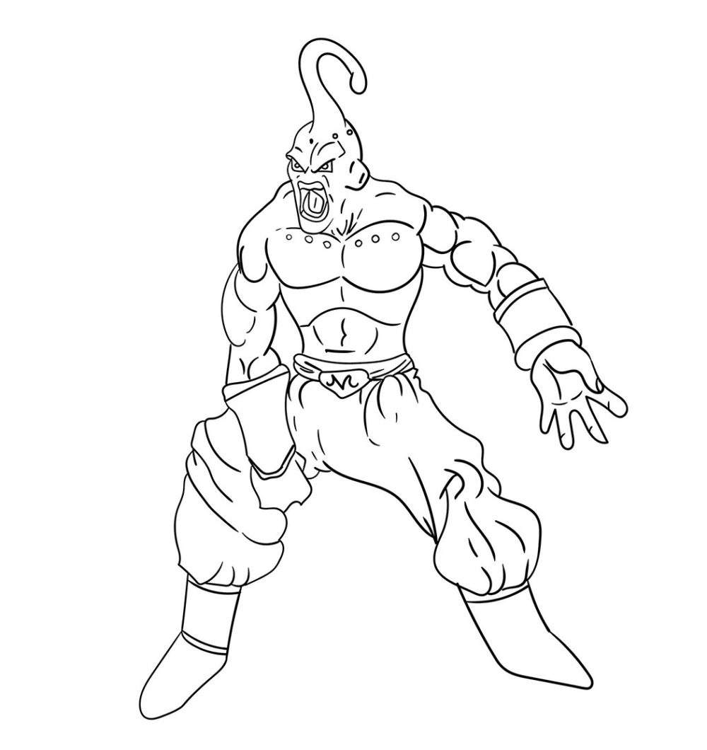 Mewarnai The Majin Buu Dragon Ball Z