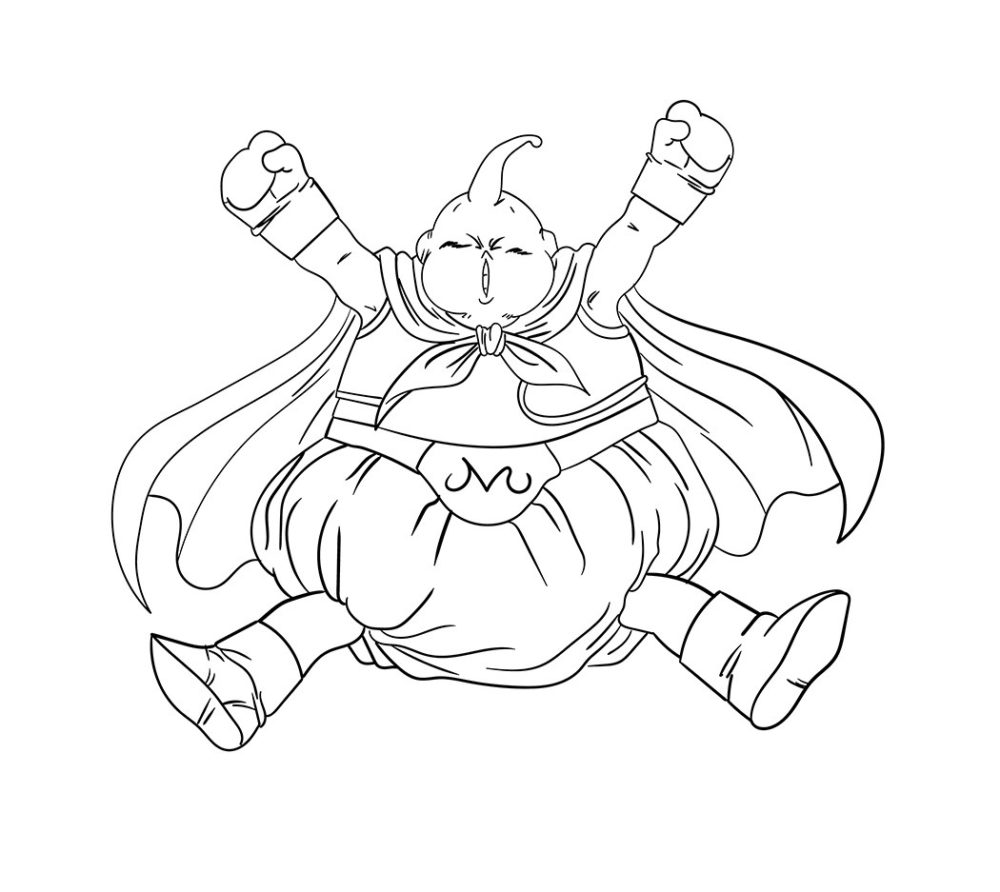 Sketsa Gambar Fat Buu Tokoh Dragon Ball Z
