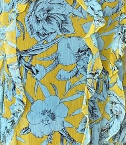Florie Dress - light yellow floral