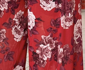 May Set- Red and white floral