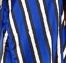 Tricia Set - Bold blue stripes