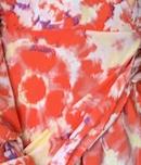 Lauretta Dress - Peach Abstract
