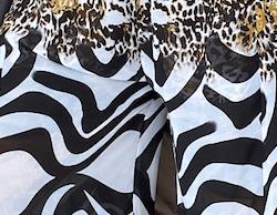 Kitay Kimono - White Animal print