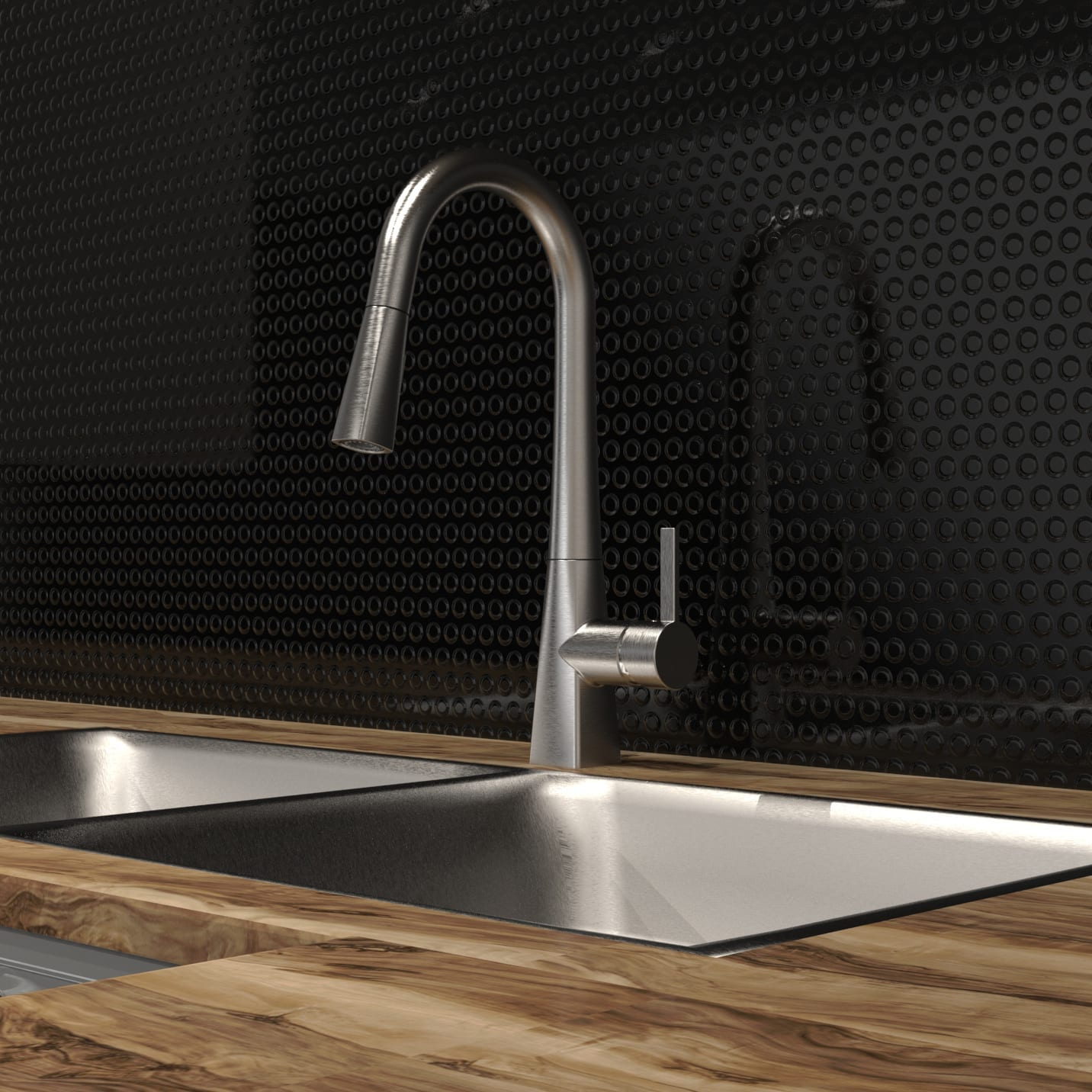 kitchen sinks and faucets credenza sink faucet with swivel pull out spout push button products diverter