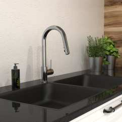 Kitchen Sinks And Faucets Tall Faucet Sink With Swivel Pull Down Spout Belanger Upt Products