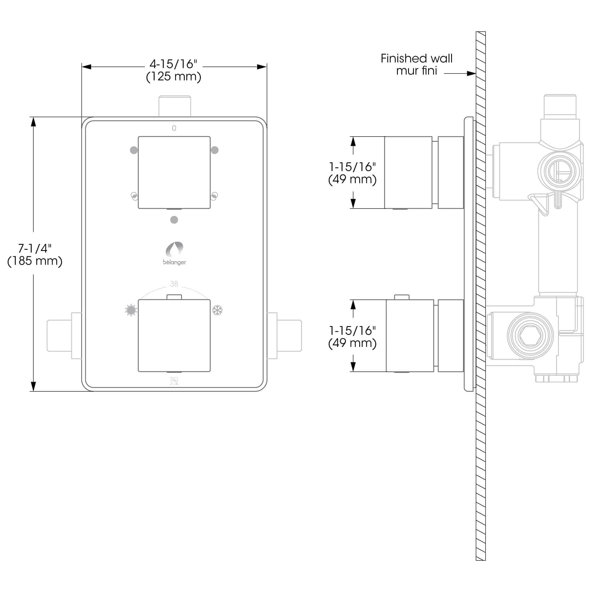 3 way diverter valve wiring diagram how to make electrical diagrams garniture pour thermostatique déviatrice