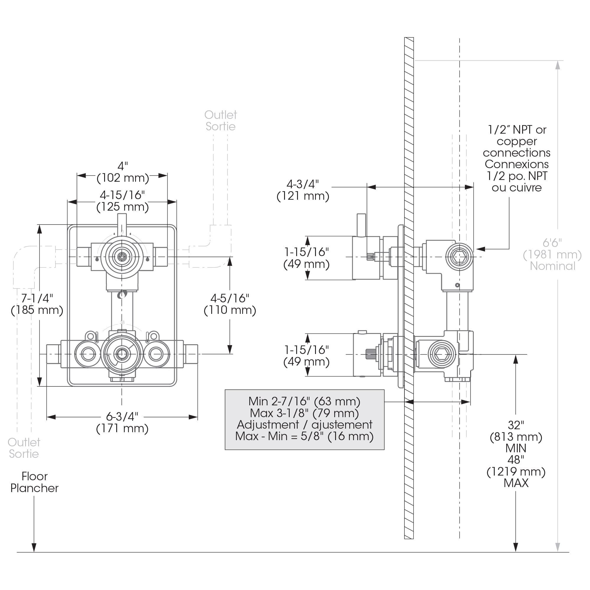 hight resolution of installation and support