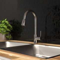 Kitchen Sink Faucet Window Ideas Treatments With Swivel Pull Down Spout Pause Button Products