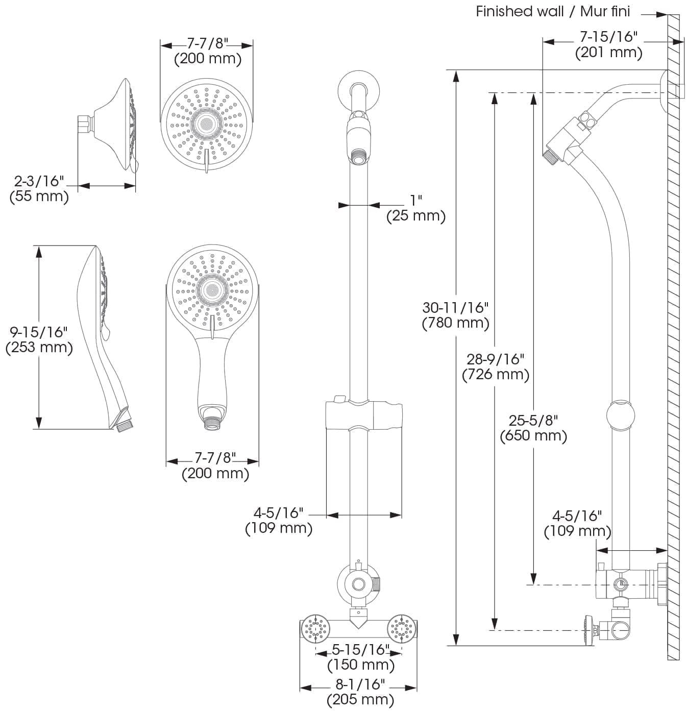 shower faucet retrofit model slide