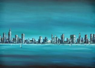 Blue city, 50 x 70 cm
