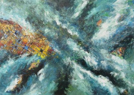 Negyvenkettő - avagy - Az Élet, a Mindenség meg Minden 50 x 70 cm