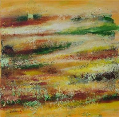 Sárga folyó, 40 x 40 cm, Magántulajdon