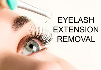 Remove eyelash extensions at home