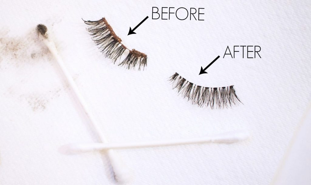 how to clean false eyelashes