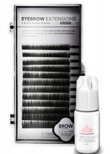 Eyebrow Extensions with Eyebrow Extension Glue