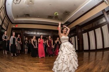 Bouquet Toss at Virginia Wedding