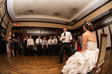 The Garter Toss at Virginia Wedding