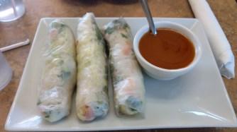 Fresh spring rolls.