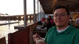 Jonathan at the wharf.