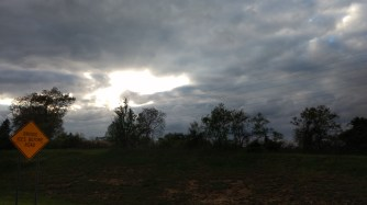 Rain stopping outside Columbus