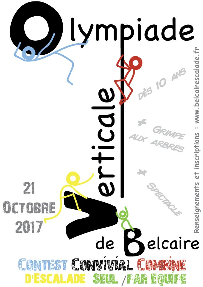 Olympiade Verticale de Belcaire 2017 : contest convivial d'escalade en combiné