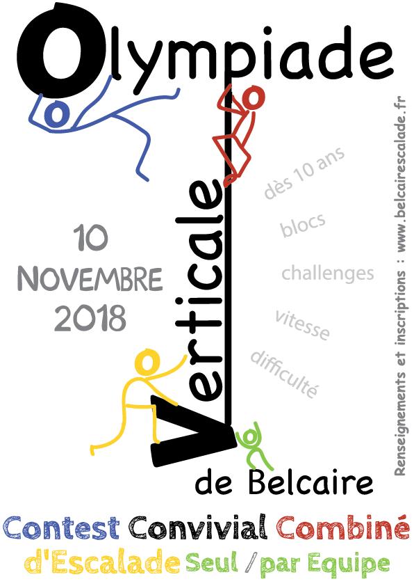 Combiné d'escalade à Belcaire : Olympiade Verticale le 11 novembre 2018