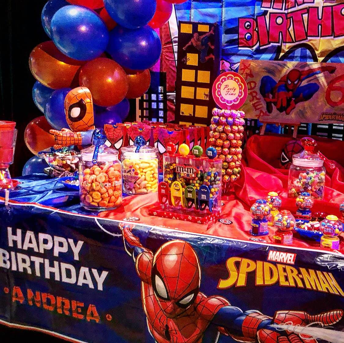 Belcat theme anniversaire Spiderman