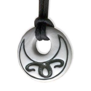 Aries zodiac pendant in porcelain by Belen Berganza
