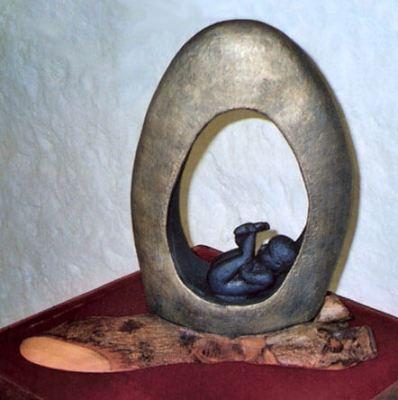 hand built raku sculpture