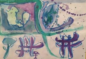 Experimentando con el color. Colores fríos. 4º de EP, Colegio Alameda de Osuna