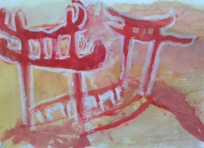 Experimentando con el color. Colores cálidos. 4º de EP, Colegio Alameda de Osuna